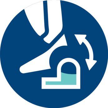 Sistem za mokro čiščenje lahko v trenutku pritrdite/odstranite