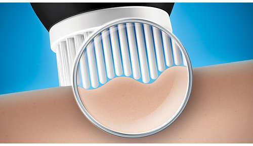 Gecoördineerde bewegingen van de borstelharen voor verhoogde microcirculatie