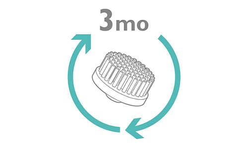 Sostituzione consigliata della testina ogni 3 mesi per una maggiore igiene