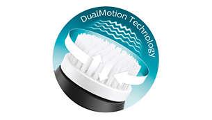Esclusiva tecnologia DualMotion per una pulizia avanzata