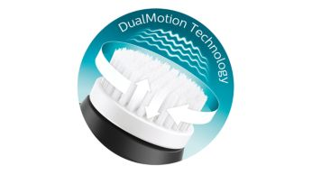 Unique DualMotion technology for ultimate cleansing