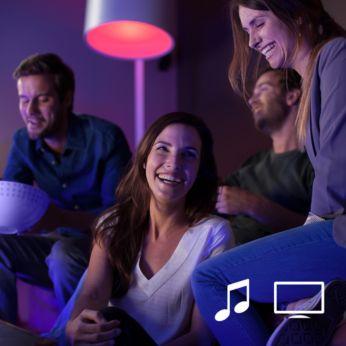 Synchronizujte svetlá Philips Hue sfilmami ahudbou