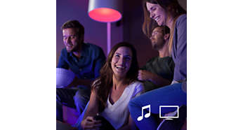 Sincronizza le luci Philips hue con film e musica