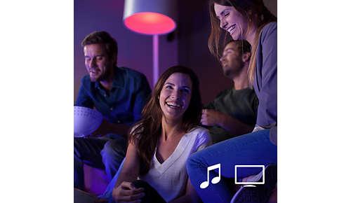 Synka dina Philips Hue-lampor med filmer och musik