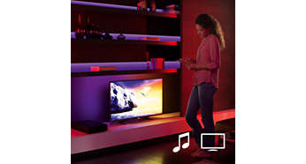 Sync your Philips Hue lights with films and music