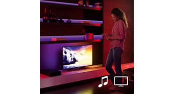Synkroniser dine Philips hue-lyskilder med film og musik