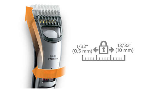 The zoom wheel technology provides precision length settings