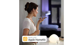 Kompatibel med Apple HomeKit-teknik