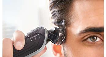 Viele verschiedene Stylingmöglichkeiten mit dem speziellen 41mm Haarschneider