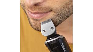 Voor het definiëren van scherpe lijnen rond uw baard of sik