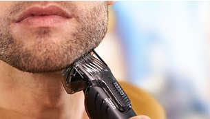 18réglages de longueur (1-18mm) pour une barbe uniforme, quelle que soit sa longueur