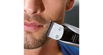 Trim your face, neck and sideburns to complete your look
