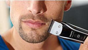 Tondez les poils de votre visage, votre cou et vos favoris pour parfaire votre style