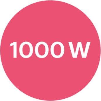 1000W power for gentle drying