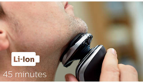 Up to 45 minutes of cordless shaving power