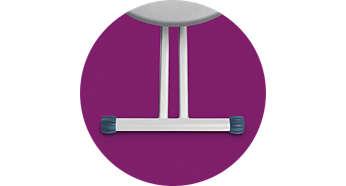 Solide et stable: conception à double pied antidérapant