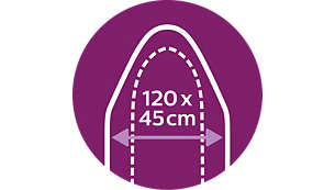 Meer in één keer strijken: XL-strijkplank (120 x 45 cm)