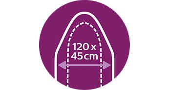 In einem Zuge mehr bügeln: XL-Bügelbrett (120x45cm)