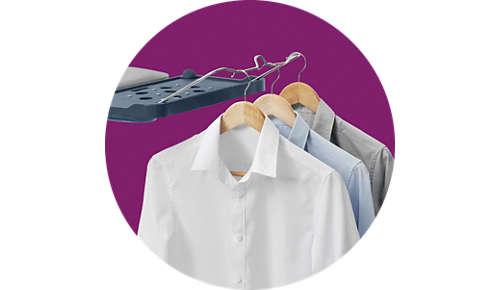 Kledingstukken direct na het strijken ophangen: handig ophangrek