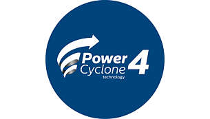 Tecnología PowerCyclone para un alto rendimiento de aspirado