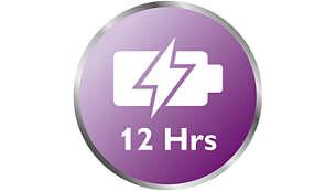 Meer flexibiliteit met gebruiksduur tot wel 12 uur*