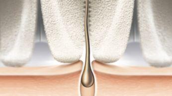 Testina di epilazione ed esclusivo materiale in ceramica per migliore presa