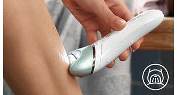 L'éclairage unique vous permet de déceler les poils les plus fins