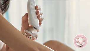 Body massager to relax and for a radiant looking skin