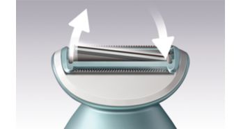 Floating foil for an even shave- Philips Satin Shave Advance
