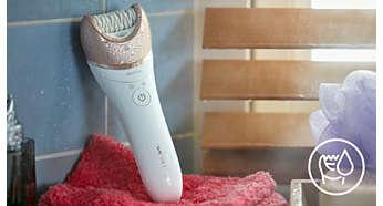 Использование на влажной и сухой коже (в ванной или душе)