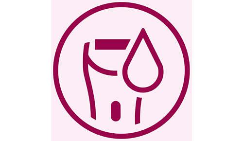 Voor nat en droog gebruik. Kan in bad of onder de douche worden gebruikt