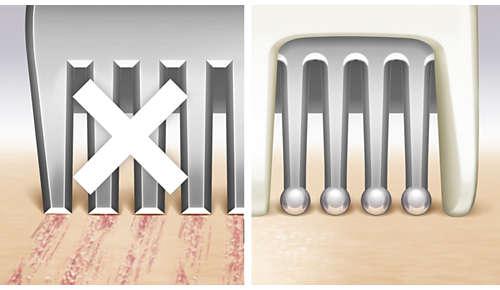 Les dents perlées et les barres de sécurité protègent des égratignures