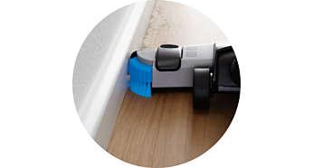 Brosses latérales pour nettoyer le long des murs