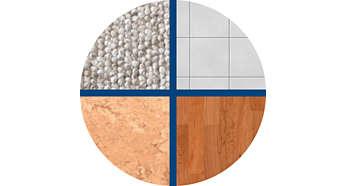 Pogodna za tvrde podove i tepihe