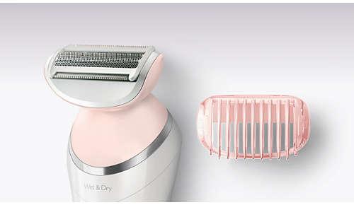 Cabezal de afeitado y peine-guía para un afeitado apurado