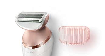 Głowica goląca i nasadka do przycinania zapewniają dokładne golenie