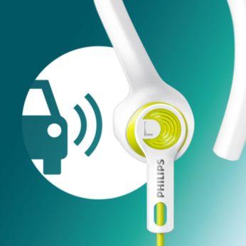 El diseño acústico abierto deja entrar el sonido para aumentar el reconocimiento y la seguridad
