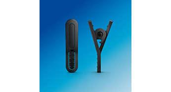 Кабельный зажим входит в комплект для защиты от спутывания кабеля во время тренировки