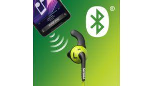 Kablolara takılmadan egzersiz yapmanız için Bluetooth kablosuz bağlantı