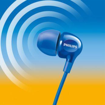 Lüktető mélyhangok, tiszta hangzás a nagy hatásfokú meghajtóknak köszönhetően