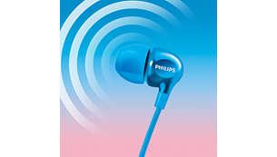 Bassi potenti e audio nitido grazie ai driver efficienti