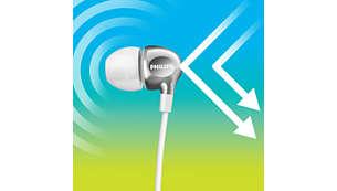 Плътното прилепване в ухото изолира външния шум