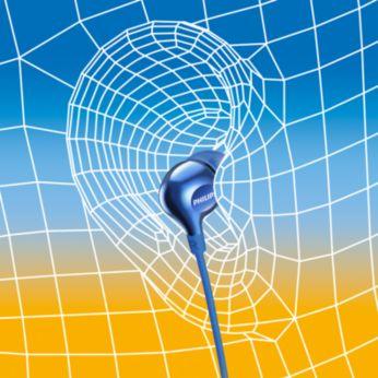 Ovális hangcsőbetét az ergonomikus, kényelmes illeszkedésért