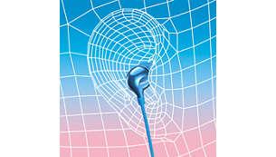 Вложка с форма на овална звукова тръба гарантира ергономично удобно прилягане