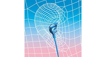 Tubul sonor oval asigură o fixare ergonomică, confortabilă
