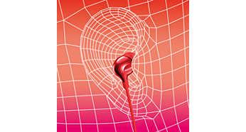 Oval sound tube insert provides an ergonomic comfort fit