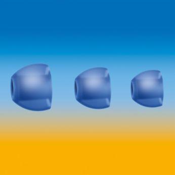 3 cserélhető gumi fülbetét nyújt optimális illeszkedést