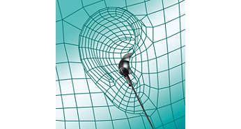 Nástavec v tvare oválnej zvukovej trubice zabezpečí ergonomické a pohodlné nasadenie
