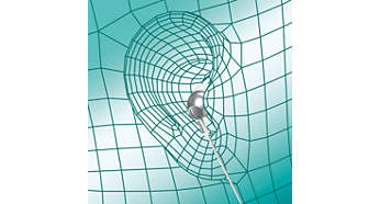 Det ovala ljudröret ger ergonomisk och bekväm passform