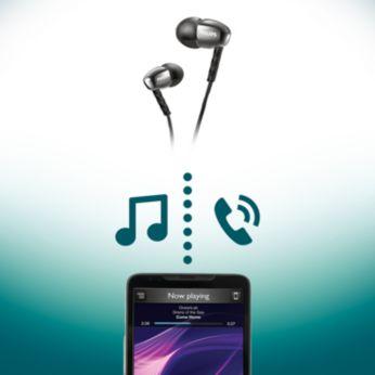 Commande sans fil pour profiter de la musique et des appels